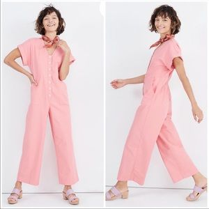 Madewell Button-Front Day Jumpsuit Size 8 NWOT